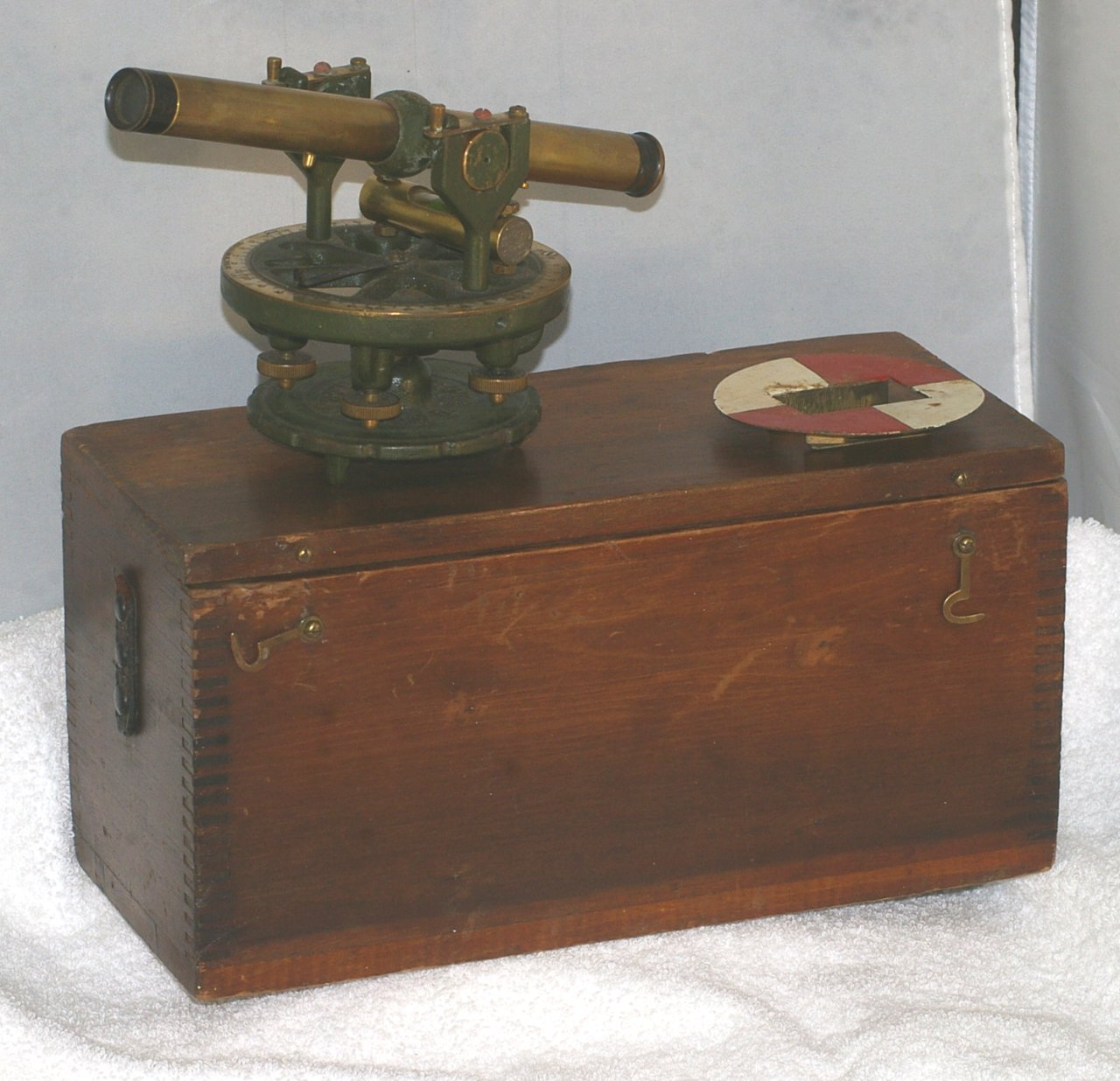 Geier & Bluhm Surveyors Transit or Theodolite in case from 1925