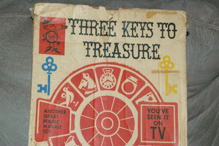 Marx Three Keys to Treasure Bagatelle Pinball Game ca 1953