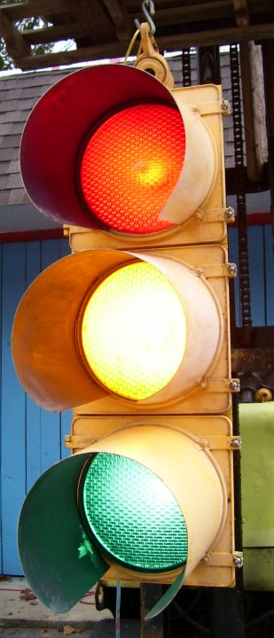 Actual Stop Light Traffic Signal from 1970s