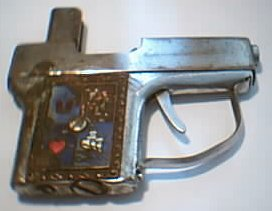 Pistol shaped lighter made in occupied Japan, about 1945