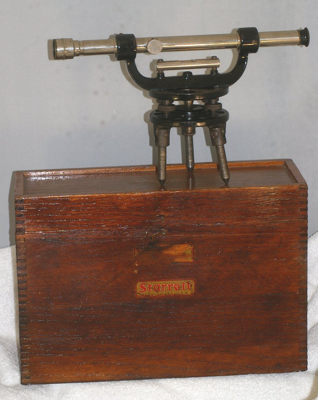 Starrett Surveyors Transit or Theodolite in case from 1938