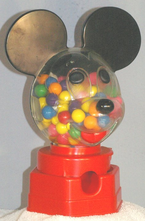 Mickey Mouse Gum Ball Machine by Hasbro, 1968