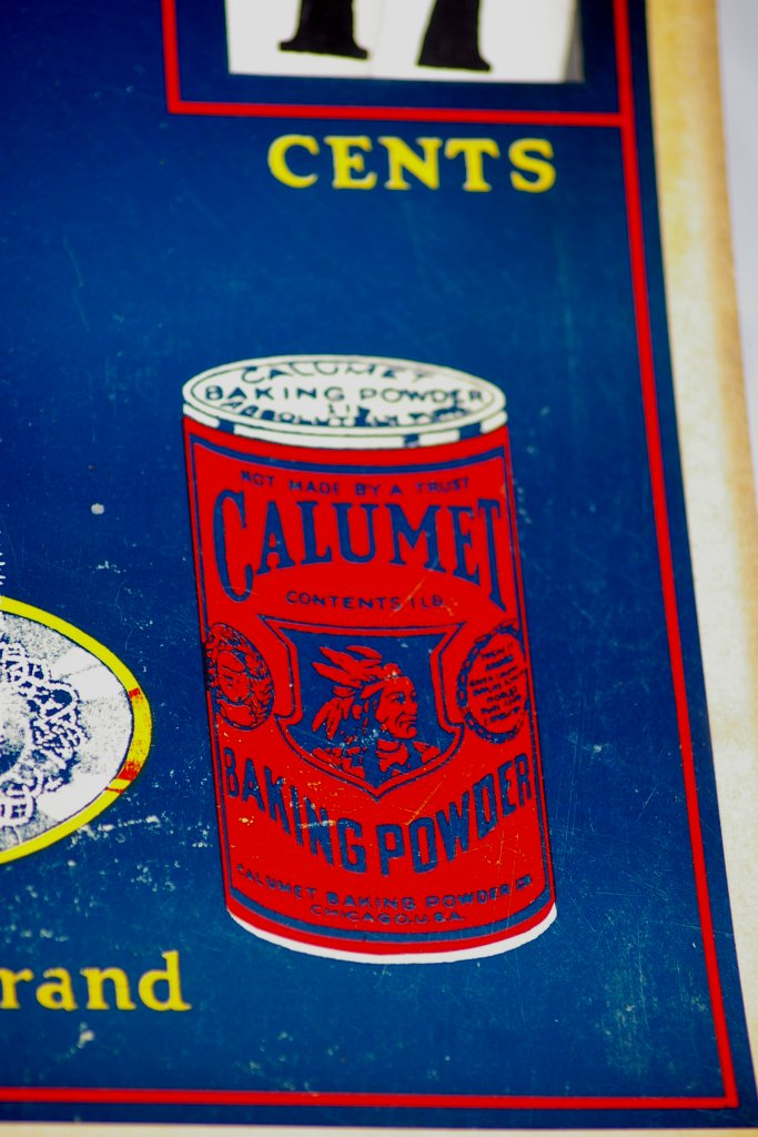Antique Calumet Baking Powder Butter and Eggs Cardboard Sign
