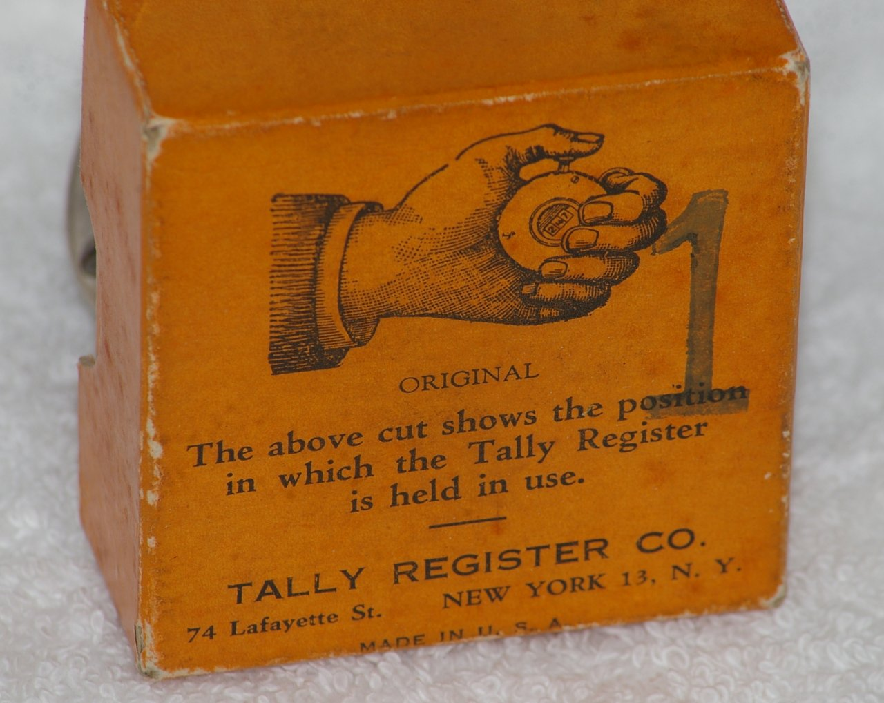 Antique Tally Register Hand Counter in Box from about 1923