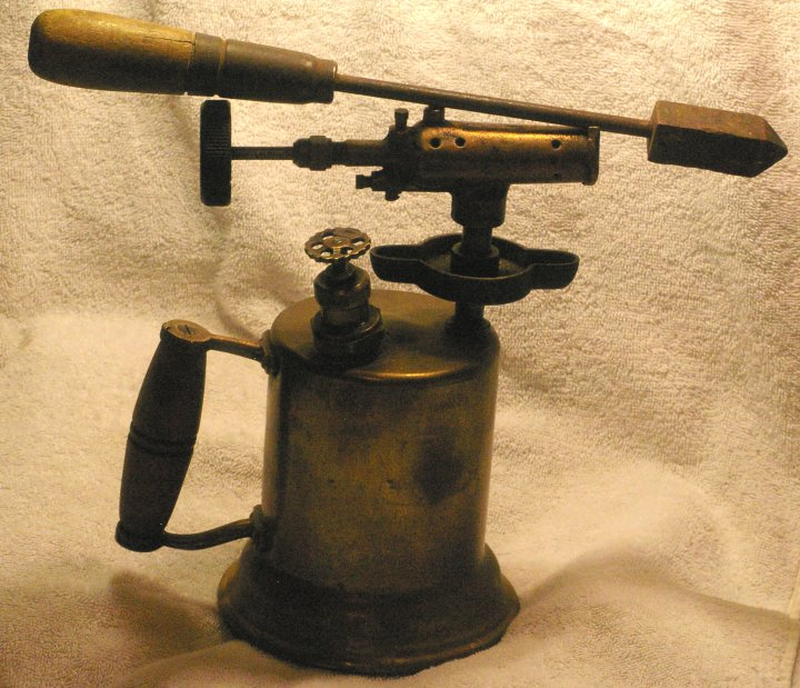 Antique Brass Blow Torch circa 1920