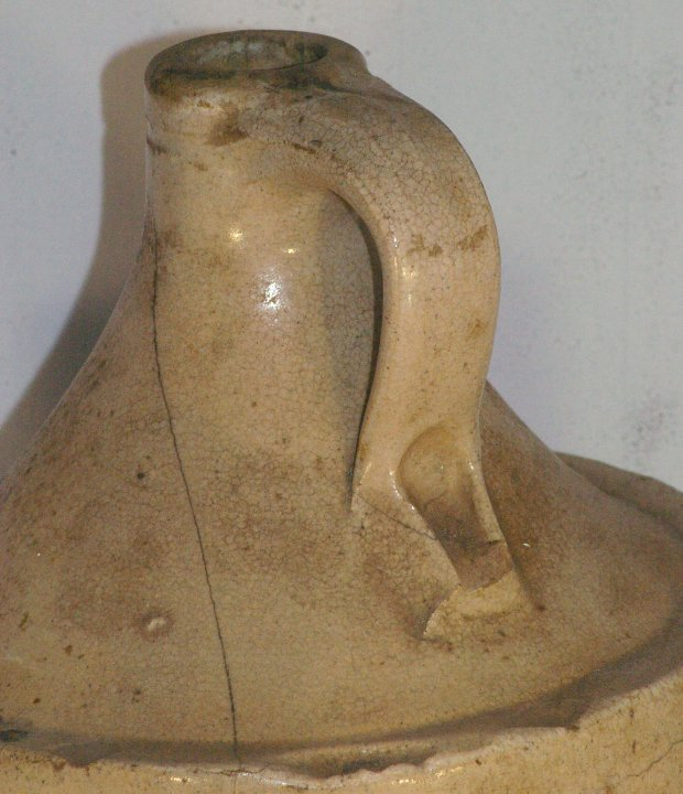Carmichael and Son Ocala FL, White Stoneware Whisky Jug, ca 1908