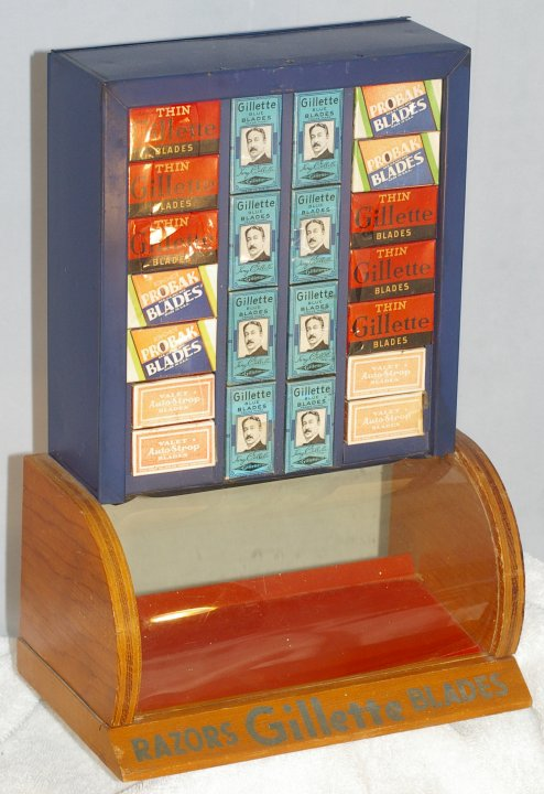 Store Display with Gillette, Valet and Probak Blades, ca 1930