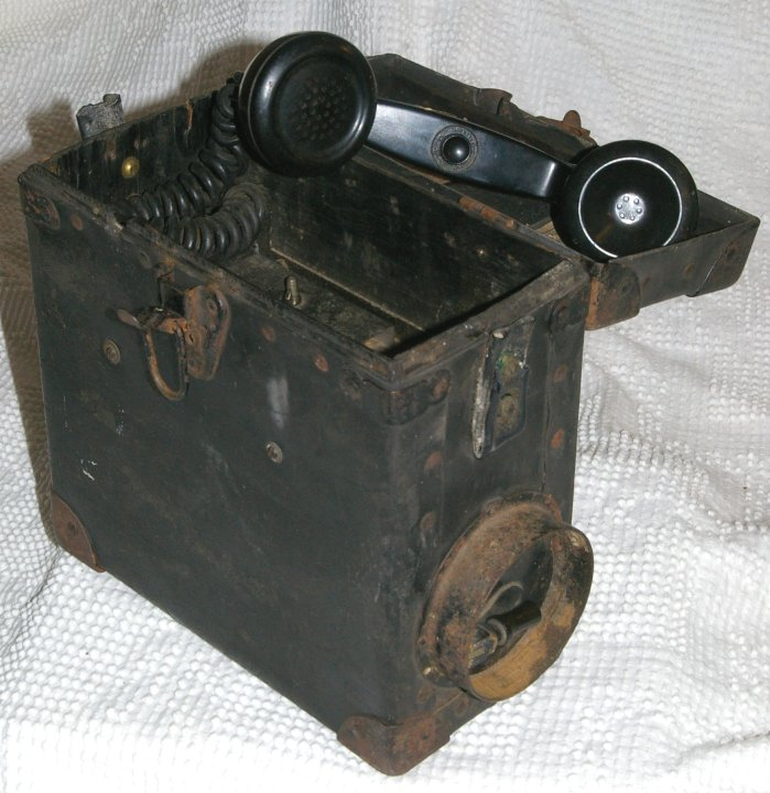 C&O Railroad Crank Field Telephone from early 1900s