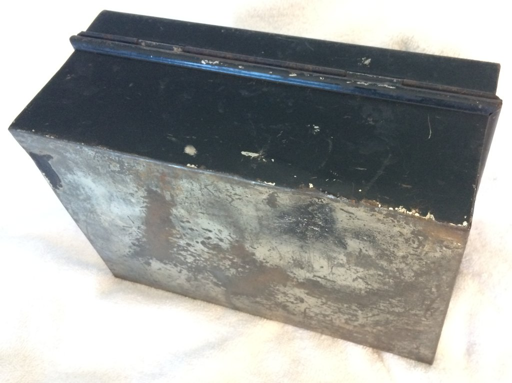 Antique Victorian Spice Box with Tins from early 1900s