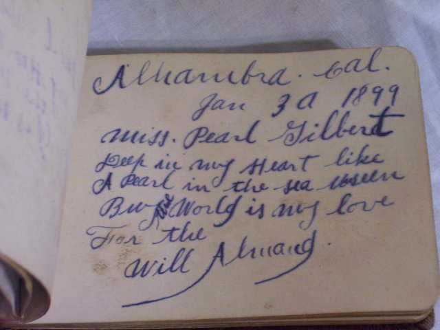 Victorian Autograph Book, full, dated 1898 - 1902
