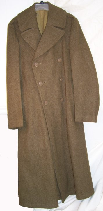 "US Army WWII ""Trench Coat"" Wool Overcoat"