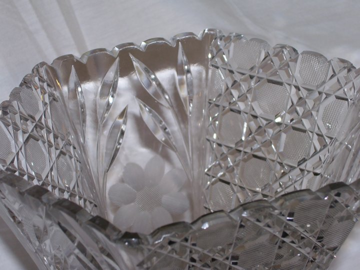 American Brilliant Period (ABP) Cut Glass Vase from about 1900