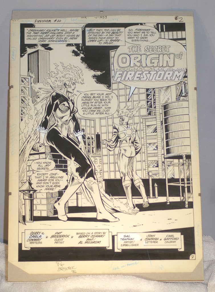 Original Comic Book Art, Firestorm #22, 1986 with Pat Broderick