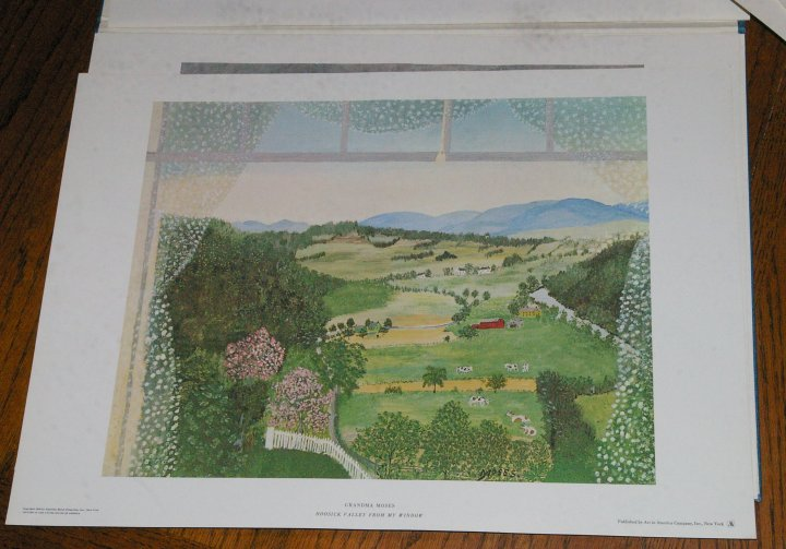 Grandma Moses Paintings, Portfolio of Eight Prints, 1961