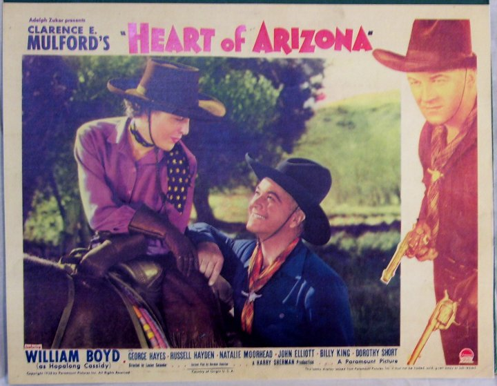 Hopalong Cassidy Movie Lobby Card, Heart of Arizona, 1938