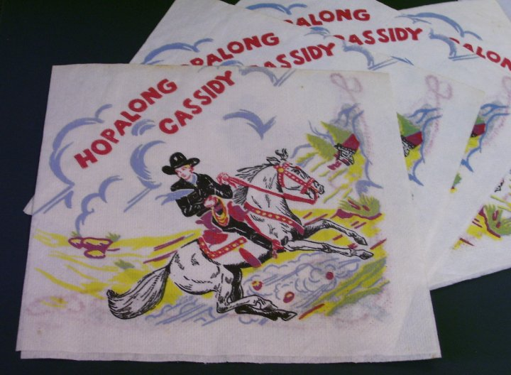 Hopalong Cassidy Party Napkins from about 1955