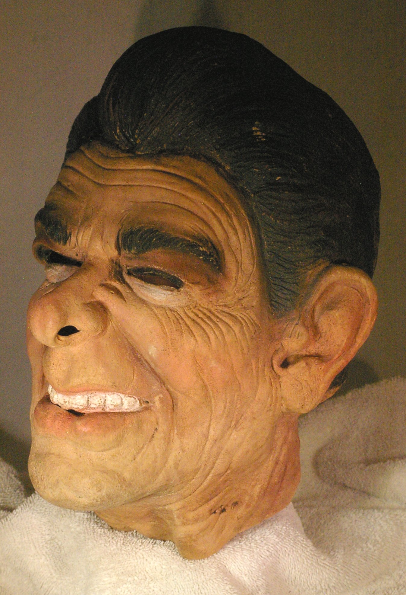 Ronald Reagan Rubber Halloween Mask from 1980's