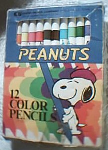 Snoopy color pencils, about 1958