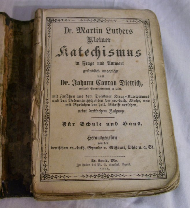 Antique Book - Dr Martin Luther's Smaller Catechism from 1868