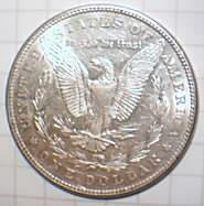 1884 Morgan Silver Dollar, Graded MS64