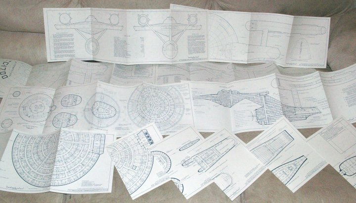 Star Trek Enterprise Blueprints, Franz Joseph Designs, 1975