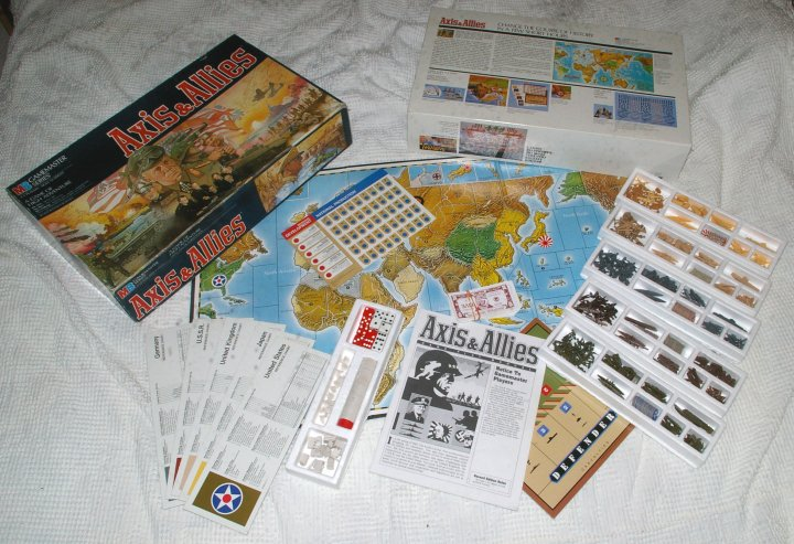 Axis and Allies Strategy Game by Milton Bradley. 2nd Ed. 1986