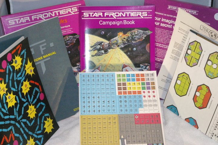 Vintage Tsr RPG Star Frontiers: Knight Hawks, 1983, Unpunched