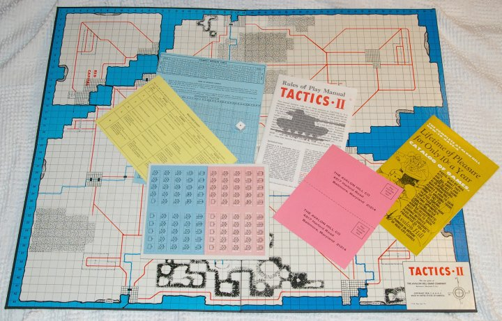 Avalon Hill Tactics II Wargame from 1973, Unpunched