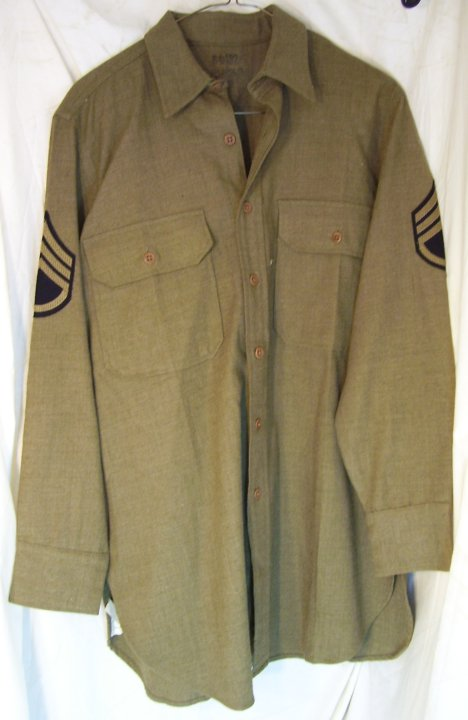 US Army WWII Army Sergeant's Uniform Shirt