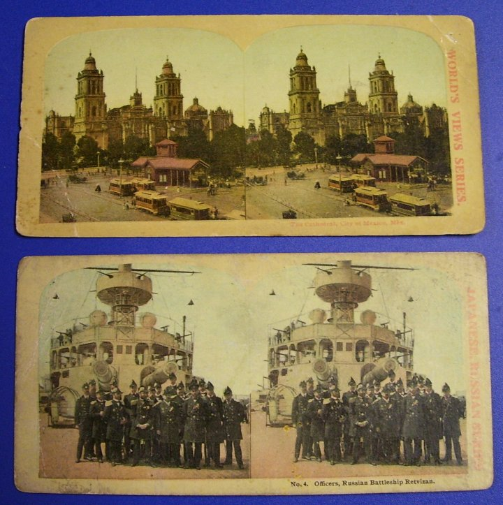 Stereographs Two Stereo Views from about 1905