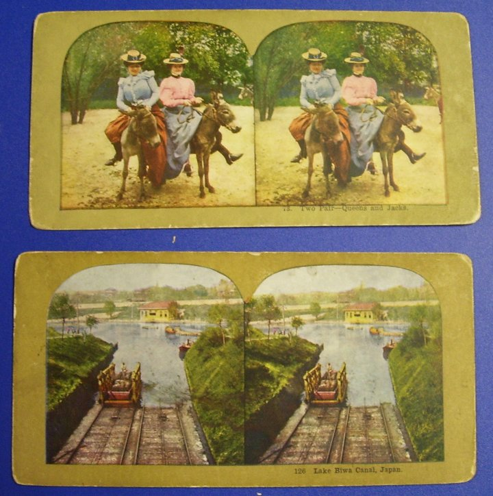 Stereographs Two Stereo Views from about 1900