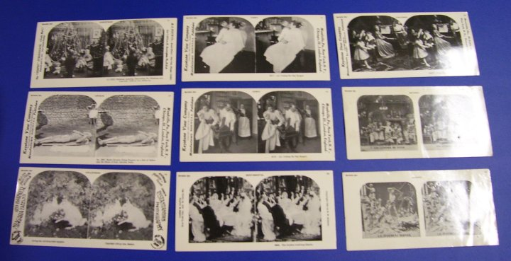 Reprint Stereographs Set of 9 Stereo Views, Sample Set, 1978