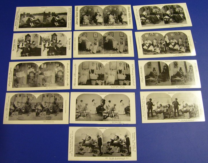 Reprint Stereographs Set of 13 Stereo Views, Woman's Lib, 1978