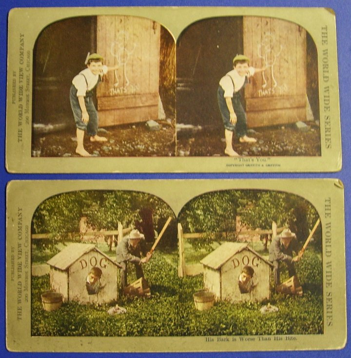 Stereographs Two Stereo Views, World Wide Series, 1900