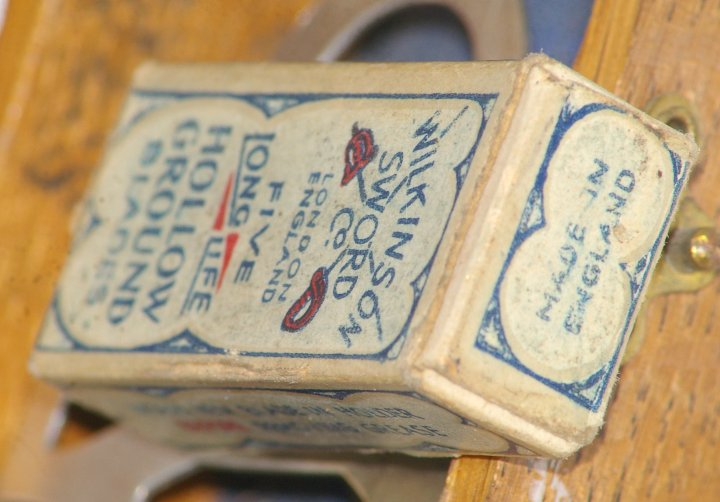 Wilkinson Sword Empire Model Razor in Wood Case, about 1933