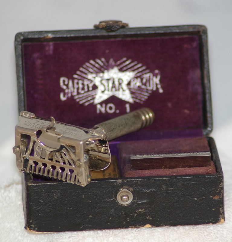 Star Safety Razor Set Number 1 by Kampfe Brothers, about 1902