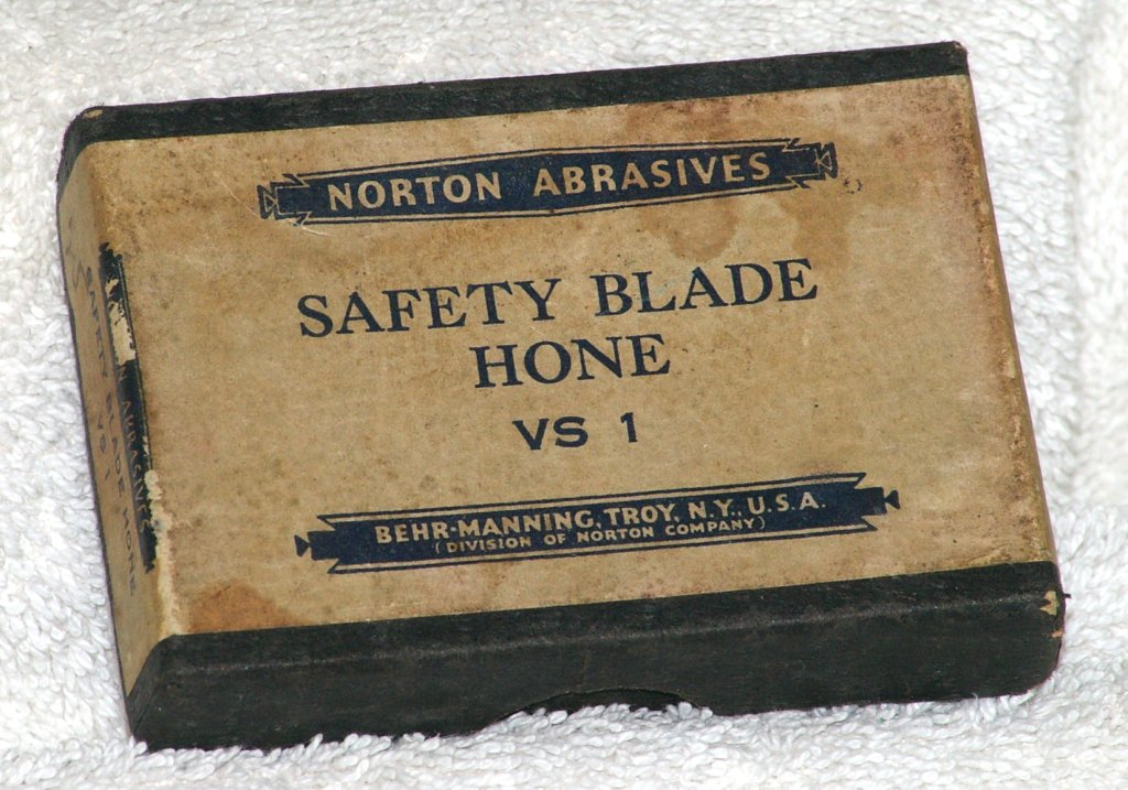 Norton Abrasives VS-1 Safety Blade Hone, about 1935