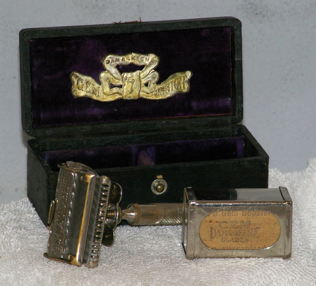GEM Damaskeene Single Edge Razor Set from 1915