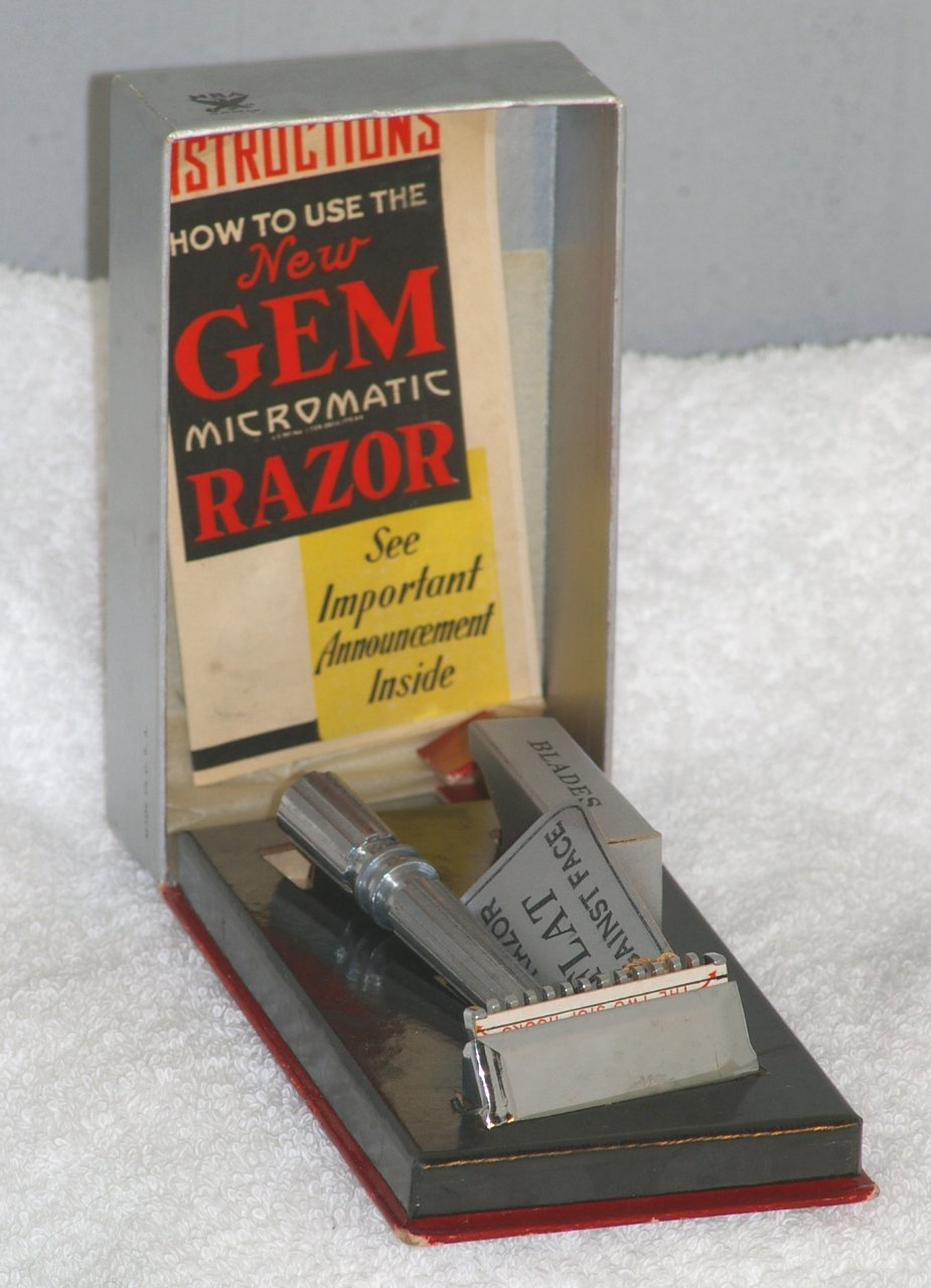 GEM NOS Open Comb Micromatic OCMM National Recovery Act 1933