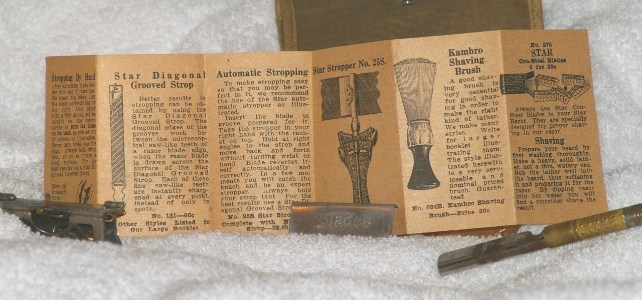 Kampfe Brothers Star WWI Service Set with Patent 1901 Razor