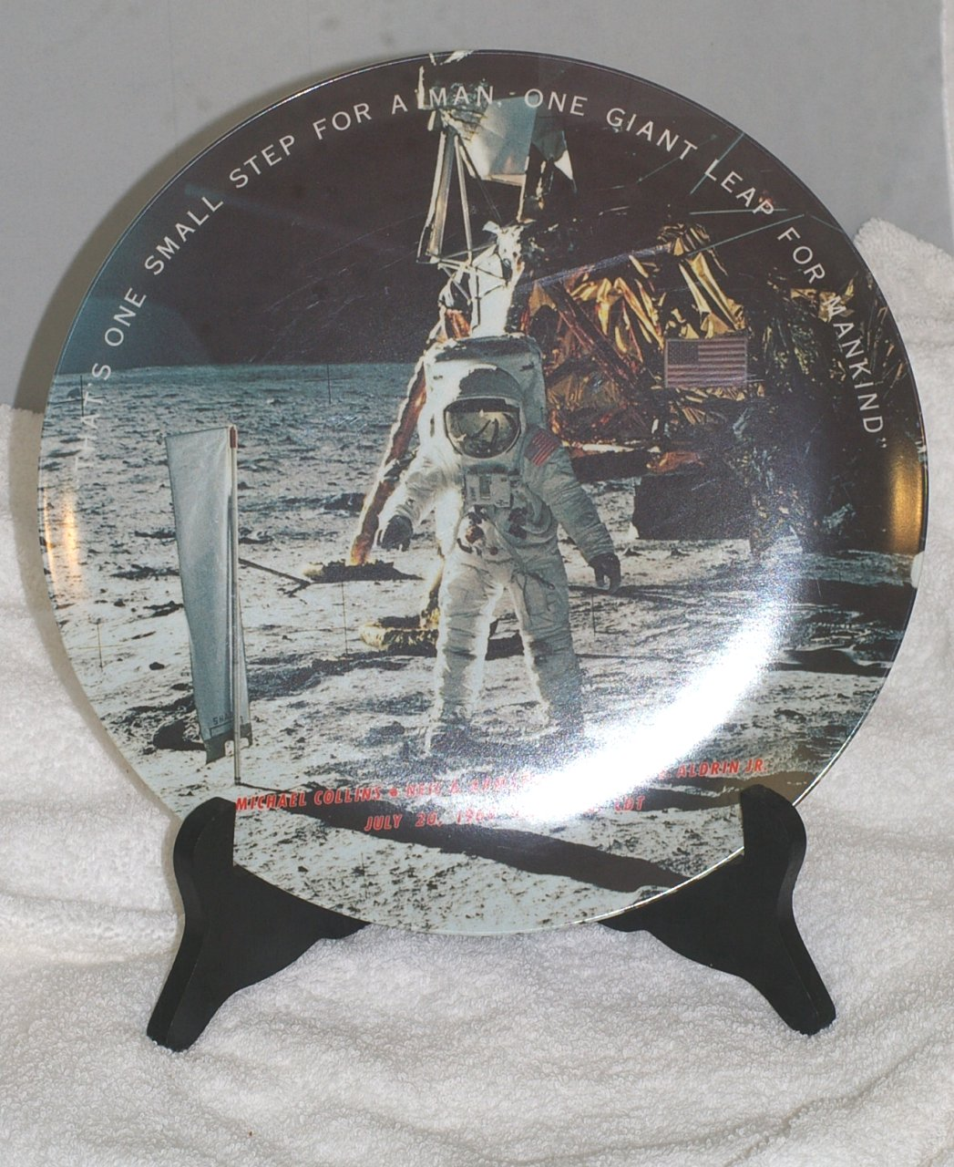 Apollo 11 Texas Ware Commemorative Plate from 1969