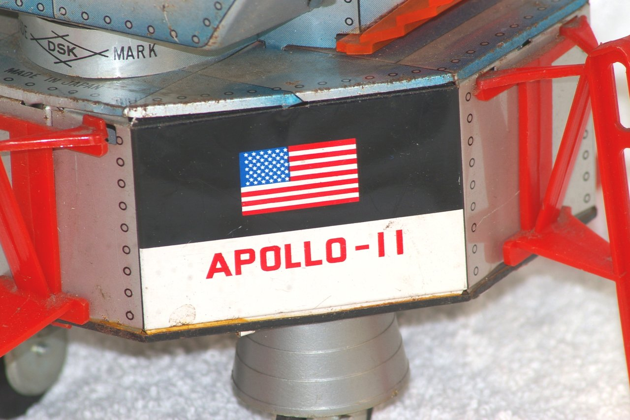 Apollo 11 Battery Operated Lunar Module. DSK Japan. Works!