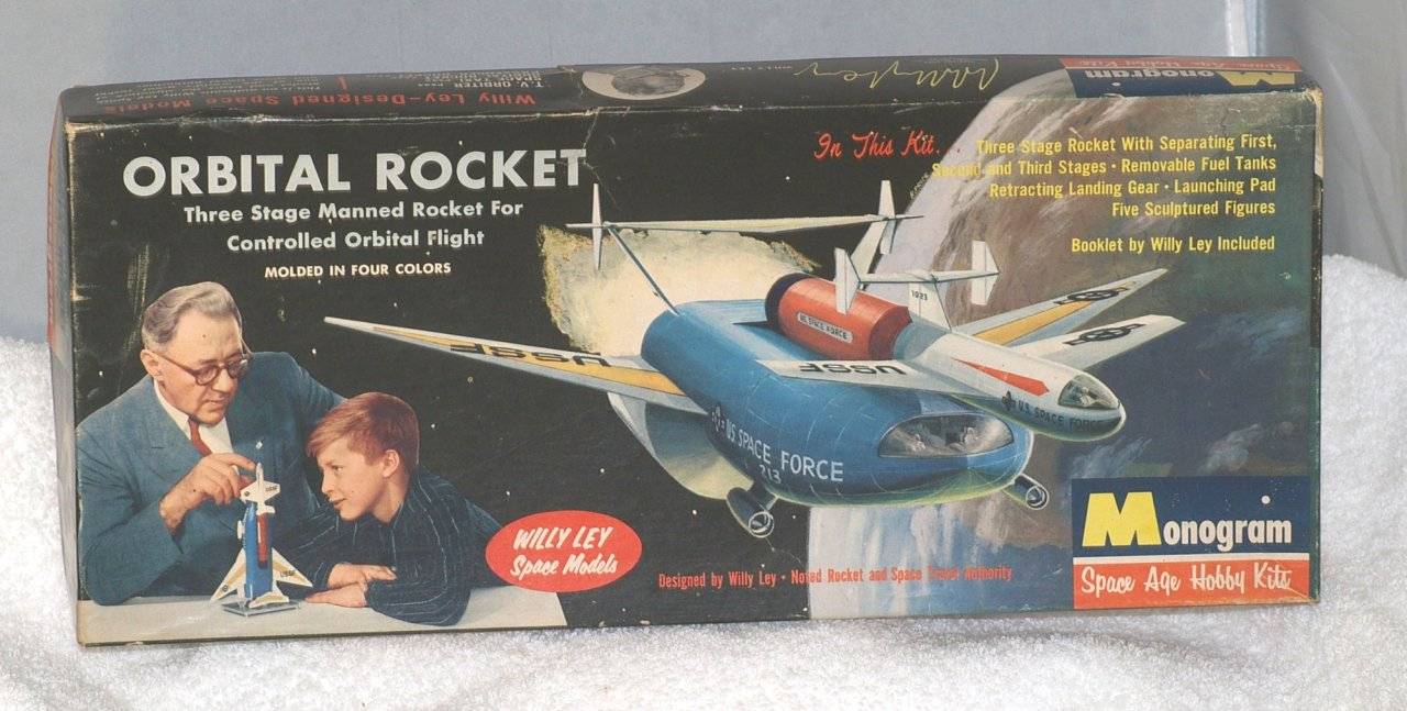 Monogram Willy Ley Orbital Rocket Model - BOX ONLY - From 1959