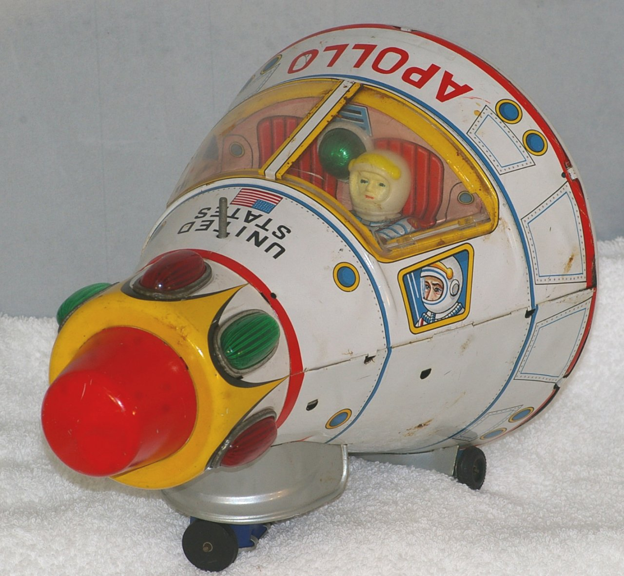 Masudaya Modern Toys Battery Operated Apollo Module from 1960s