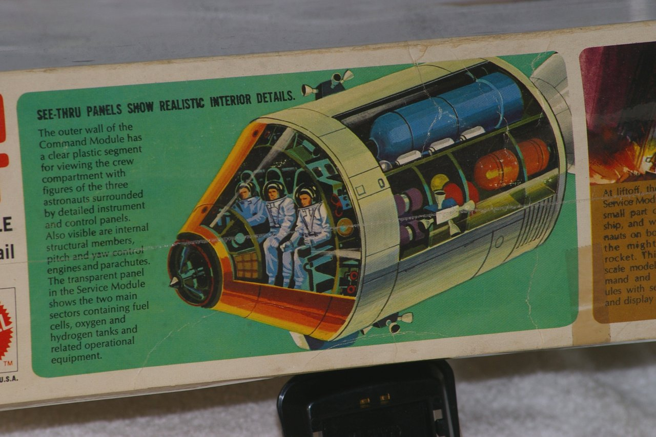 Monogram Apollo Spacecraft Model from 1970 - Sealed in Box