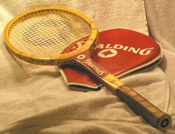 Spalding Tracy Austin Tennis Racket with Cover, about 1979