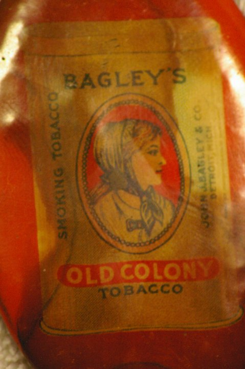 Bagleys Old Colony Advertising Sharpening Stone or Hone, ca 1900