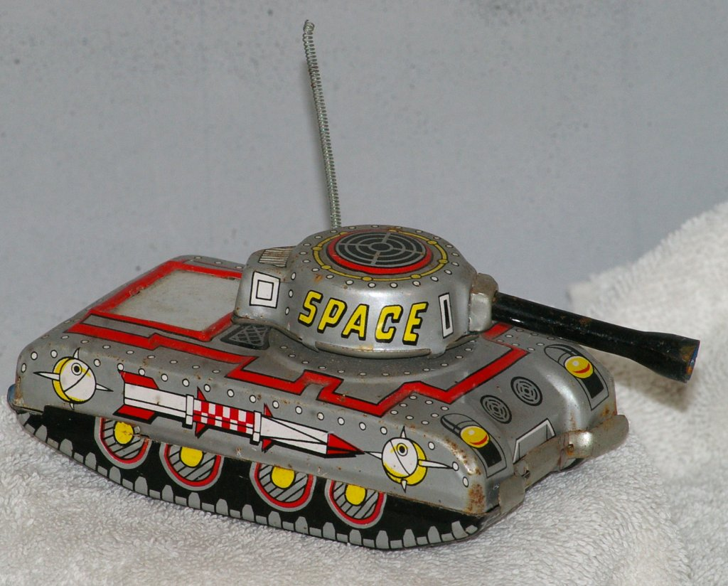 Space Tank Friction Tin Toy - Made in Japan - 1960