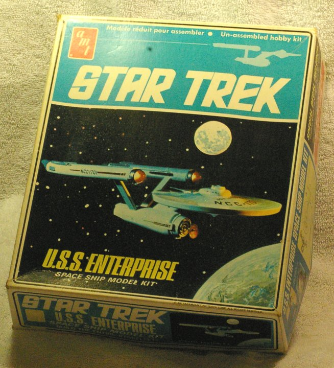 Original Issue AMT Star Trek Enterprise Model Kit from 1975