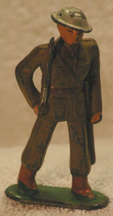 Lead Soldier - Barclay, Officer With Sword, B27 708, from 1940
